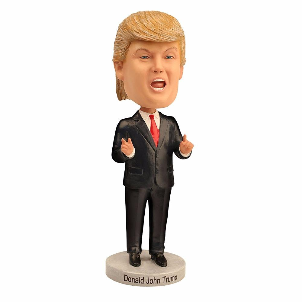 Popular Modelo Presidente Donald Trump 3D Bobble Cabeça