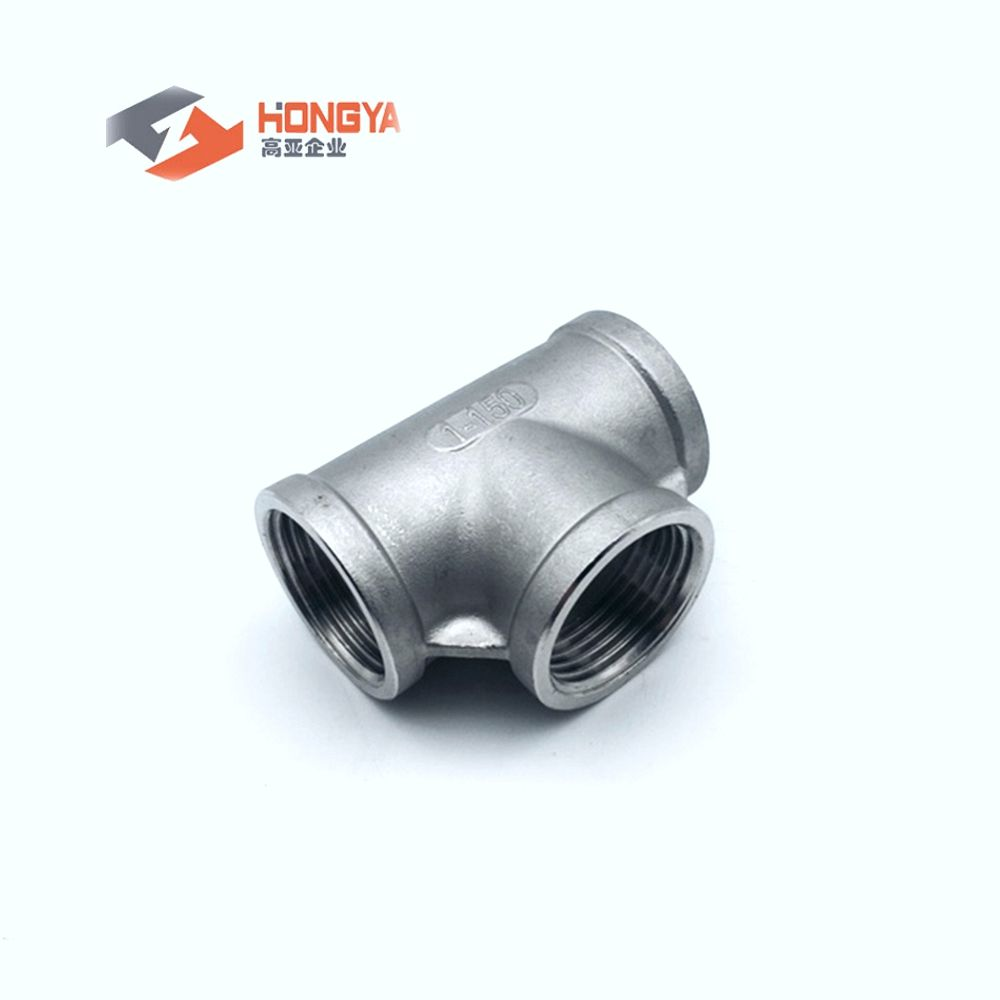 Threaded stainless steel tee NPT BSP 304 316 IC fitting