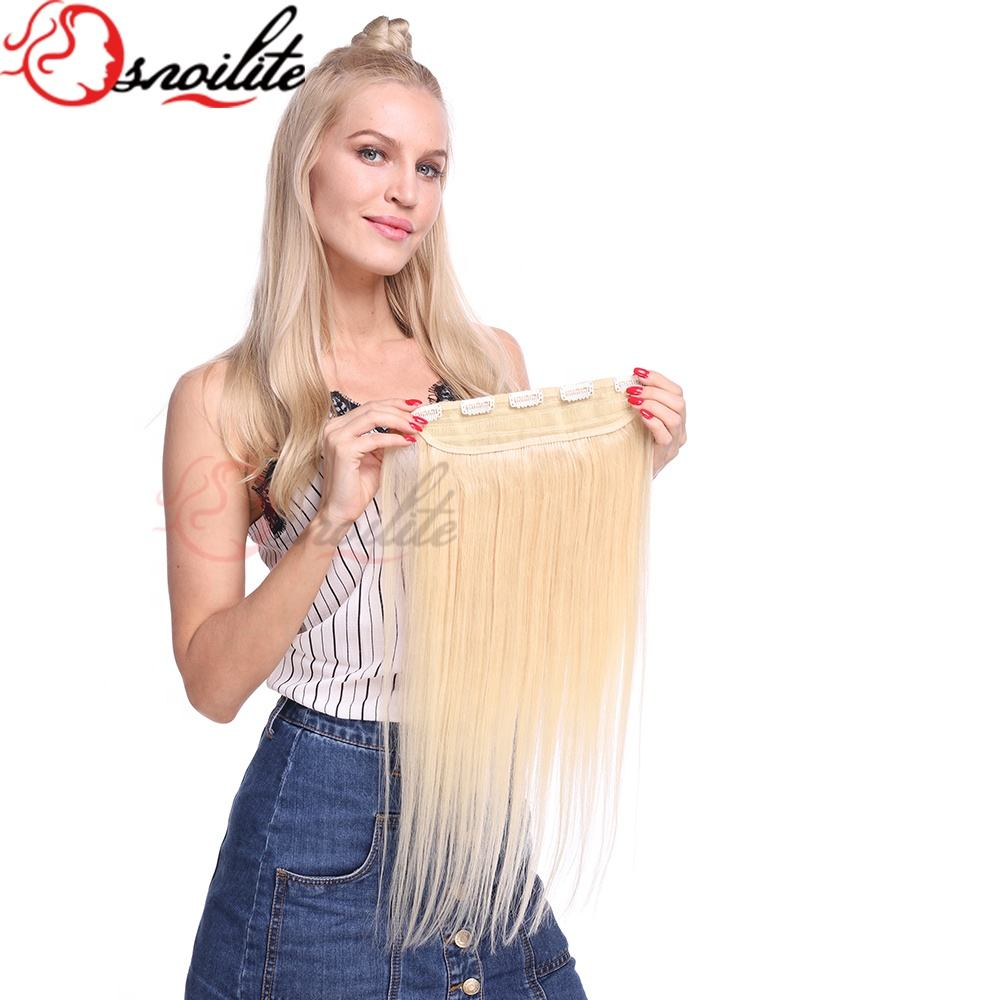 US UK Ready zu schiff Clip in One Piece Remy 100% Human Hair Extensions 3/4Full Head Any Color