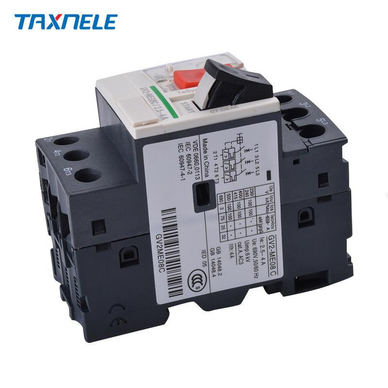 GV2 Disjoncteur Disjoncteur de Protection Moteur pour la Protection de la Ligne de Distribution et la Conversion de Charge peu Fr/équente Fr/équence 50 // 60HZ GV2-ME20C 13~18A