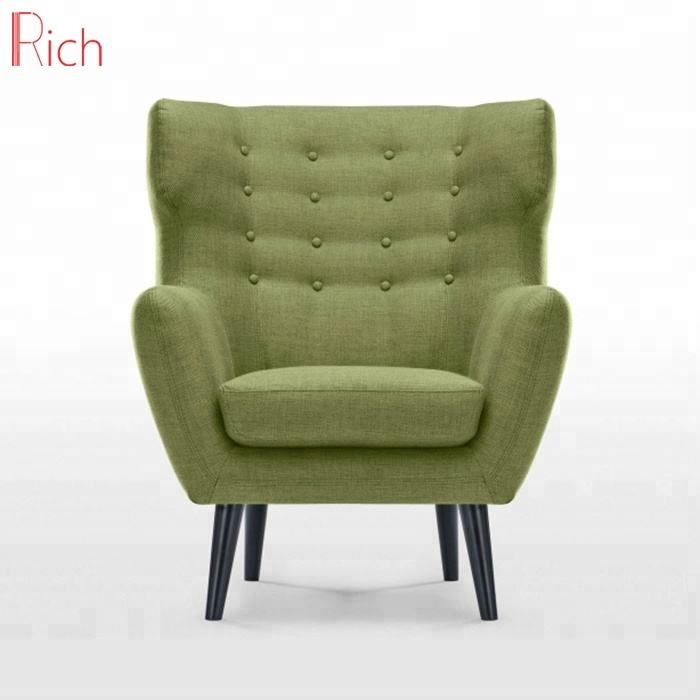 Hot sale Armchair Fabric Wing Back Chair Sofa For the Living Room