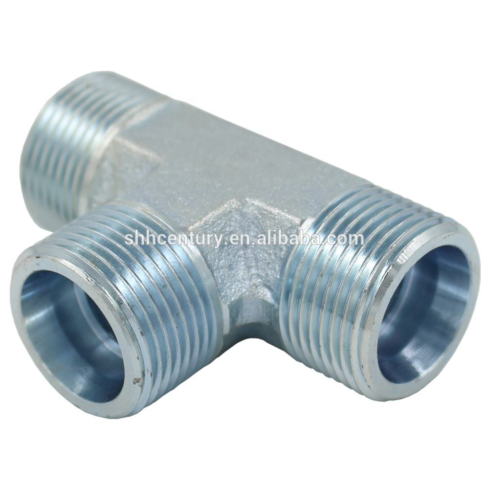 Eaton Standard AC/AD-RN Metric Pipe Fitting Hydraulic Equal Tee