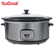 3.5L/4.5L/6.5L  Capacity 200W Slow Cooker With Ceramics Inner Pot 3 Speed Setting
