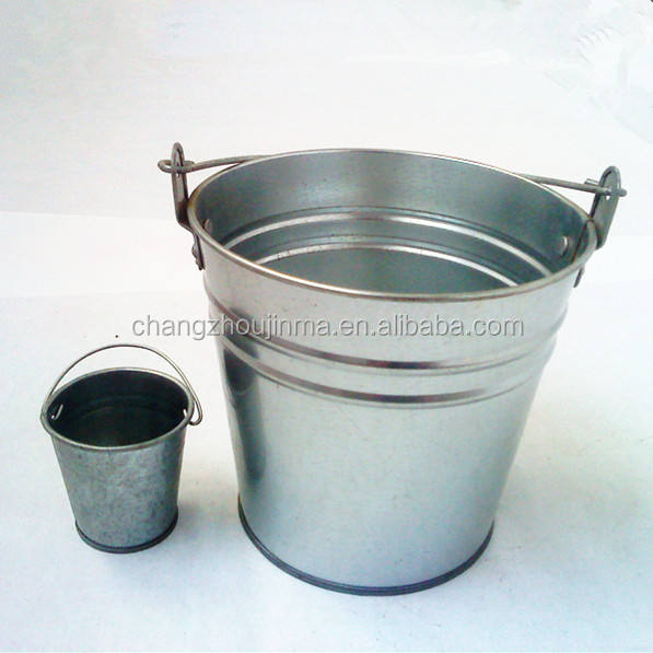 Factory direct sale durable noble tin bucket with customized design