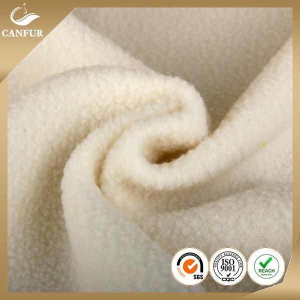 Cheap Polyester plain super soft polar fleece fabric