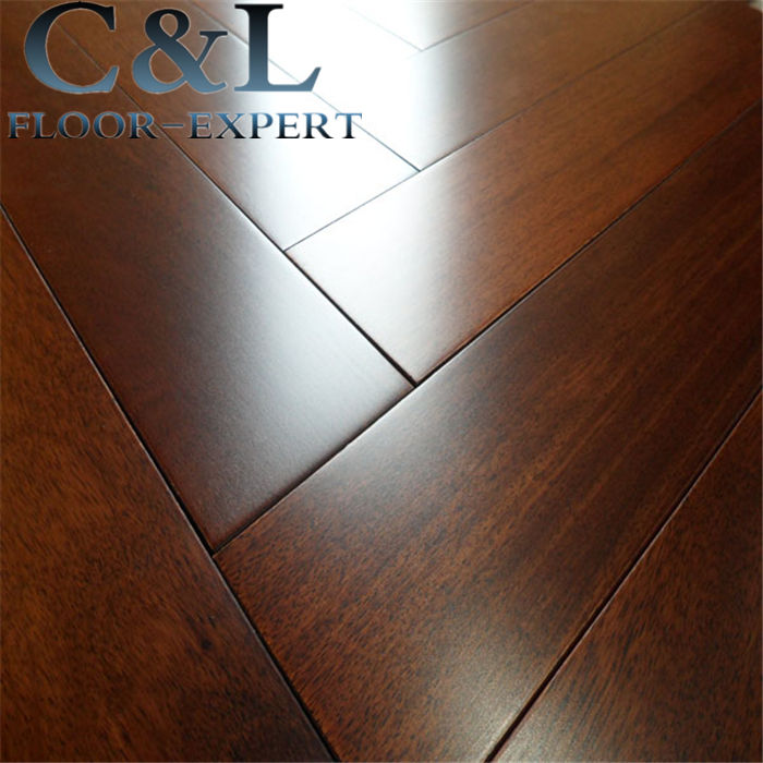 Natural color UV lacquer matte prefinished Asian Merbau solid wood flooring