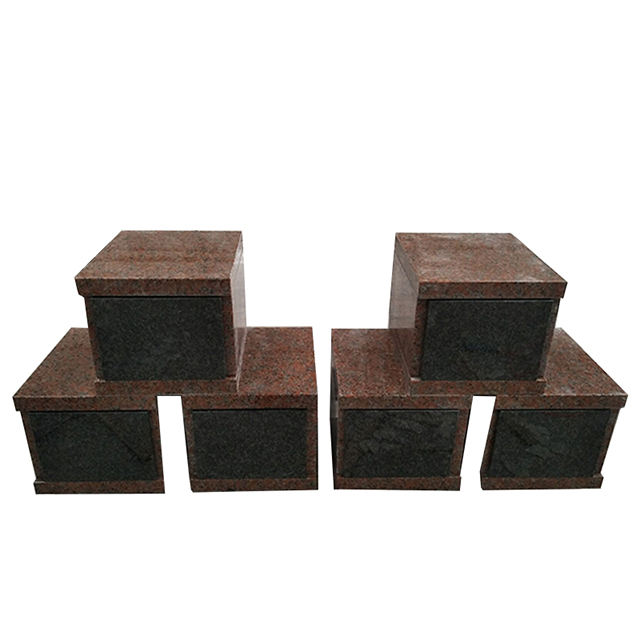 Indoor China Made Shanxi Black Mapple Red Granite Urn Columbarium Niche for Cemetery Use