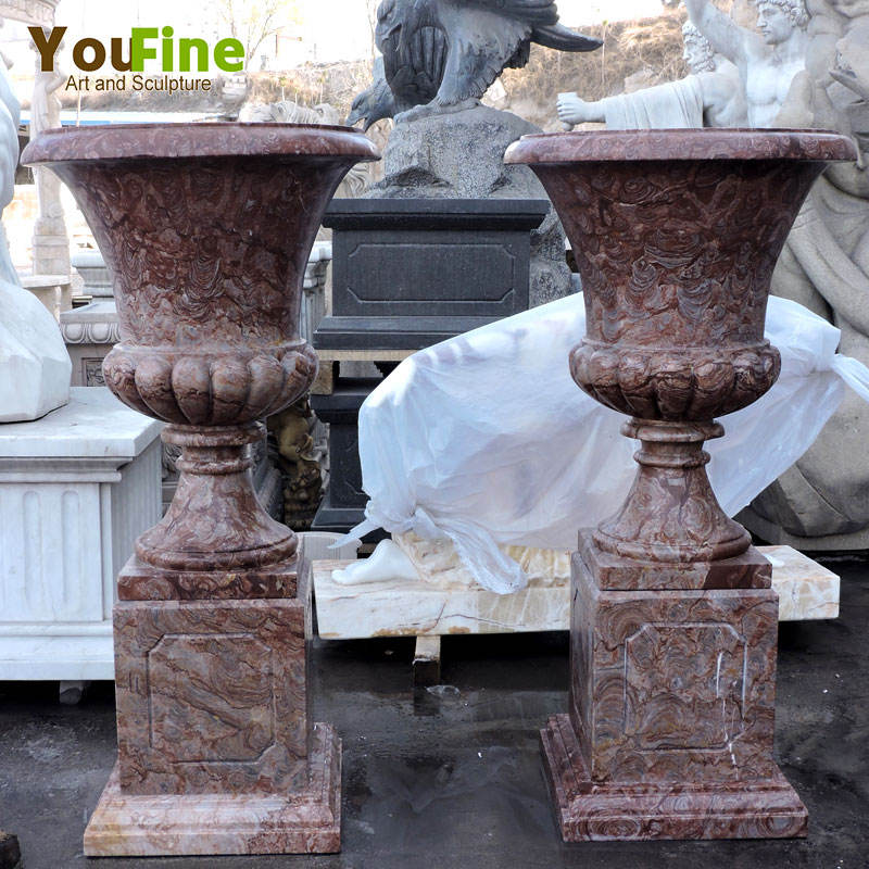 hand carved garden marble planter for sale