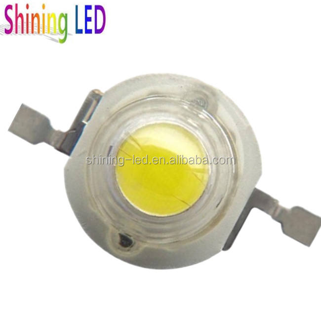 Light-Emitting Diode Cool White Color CCT 6000-6500K Epistar 1W Power LED 120lm-130lm