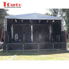 TourGo Hot Sale Outdoor Lighting Performance Stage Covered Mobile Aluminum Concert Stage For Events
