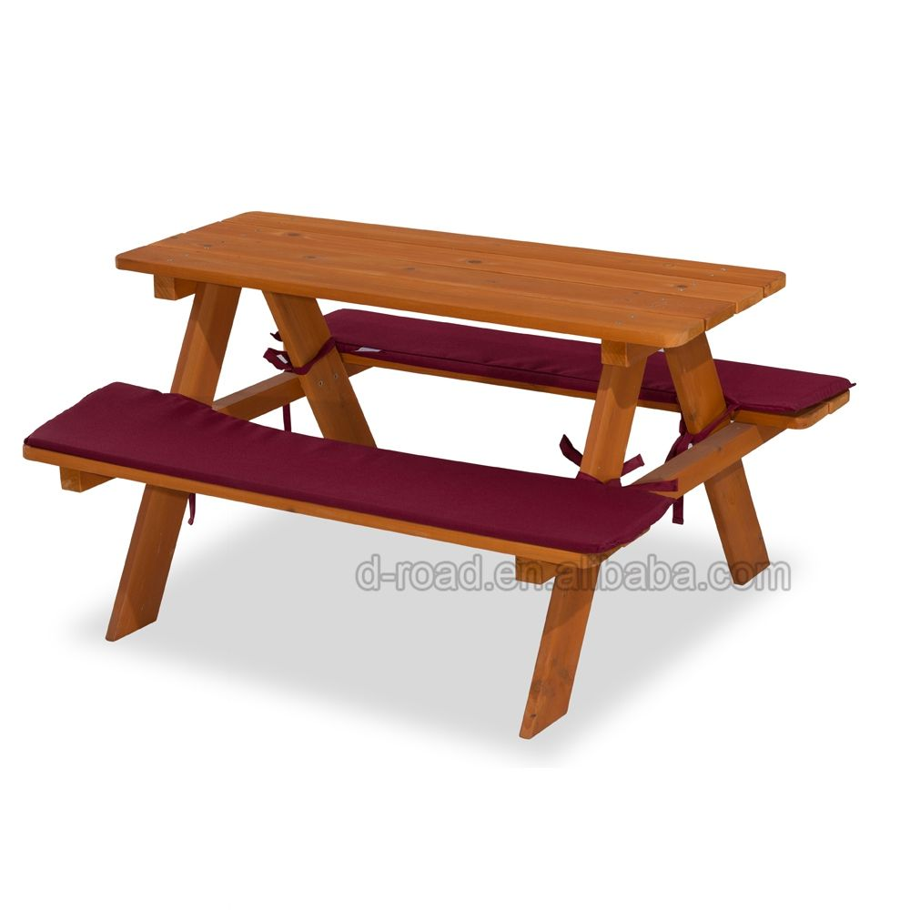 - Outdoor Wooden Folding Kids Picnic Table
