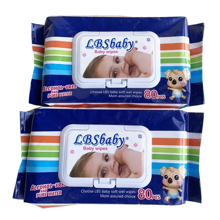 Natural cotton Skin-friendly sensitive skin baby wet wipes OEM available