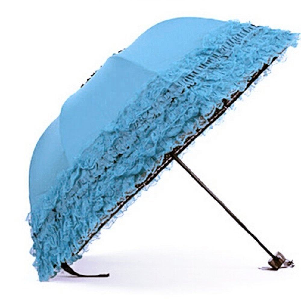 2019 uv protection auto open retro princess lace lady dome umbrella