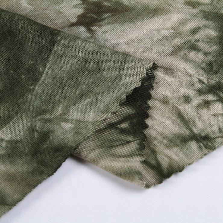 Vêtements de sport 95% rayonne 5% spandex tricoté cravate teinture rayonne tissu textile tissu