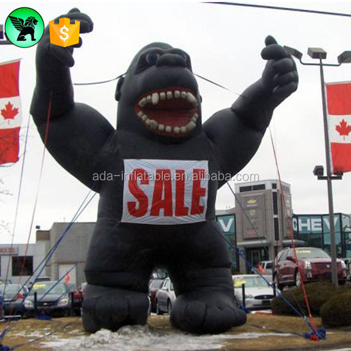 Event Inflatable Black Gorilla Customized For Sale A405