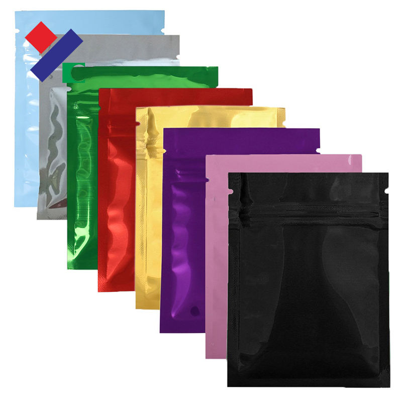 High performance customized printed hdpe flat zipper paper bags for single serve or small portion products