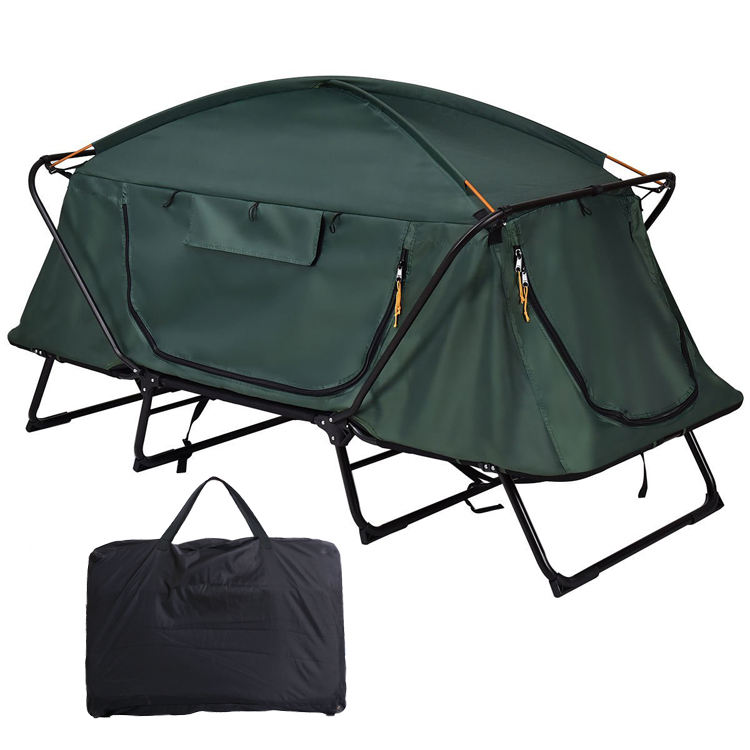 Waterproof Multipurpose Camping Bed Tent Cot 1-2 Person Outdoor Sleeping Bed Folding Camping Tent