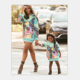 Wholesale Latest Summer Printed Family Mommy And Me Matching Outfits Custom Mother Daughter Clothing