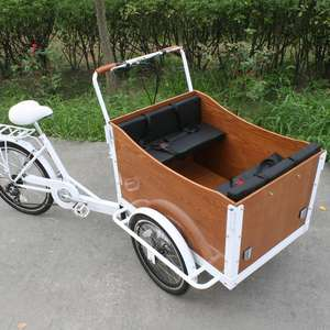 CE 3 Wheel denish bakfiets/ family Electric cheap Cargo Bikes for children