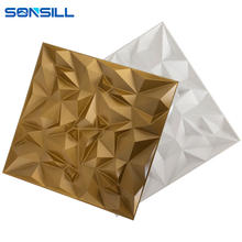 new designs gold color 3d wall cladding for living room