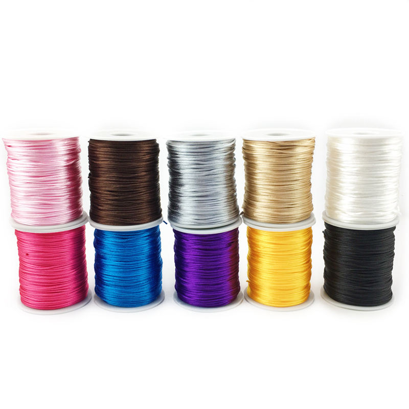 75M Satin Silk Cord Rolls for DIY Baby Teething Necklace
