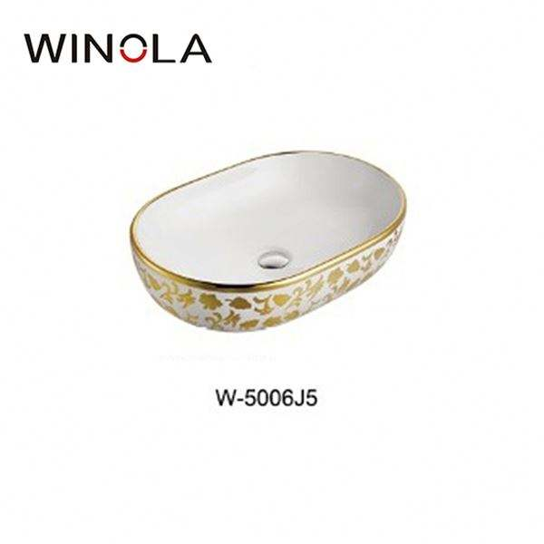 Fashion Attractive Design Factory Price Direct Supply Ceramic Wash Basin Oval Shape
