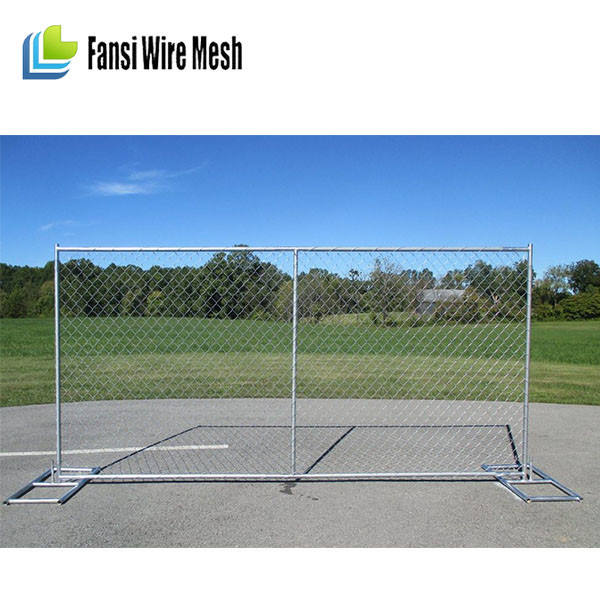 New Standards America Chain Link Temporary Fencing for Construction