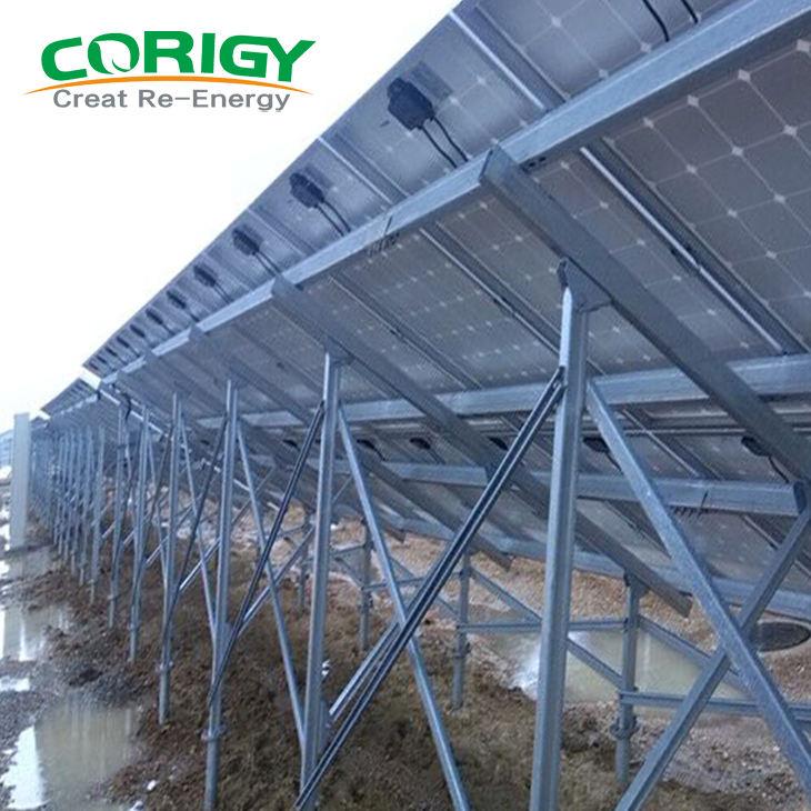 Pv bảng điều khiển năng lượng mặt trời Gắn Giá đỡ Công nghiệp Đất