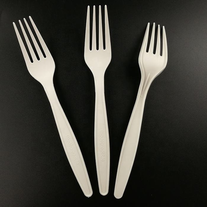 EcoNewLeaf 7 inch Biodegradable Durable Fork Eco-Friendly Made from Cornstarch