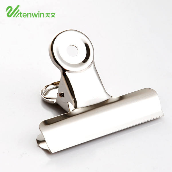 22 31 38 50 63 74 mm Round Large Metal Stainless Steel Hinge Clips Silver Bulldog Paper Clip Clamp for office supplies