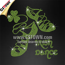 The lucky dancing shoes with Shamrocks made by Leprechauns hotfix rhinestone transfers for tees