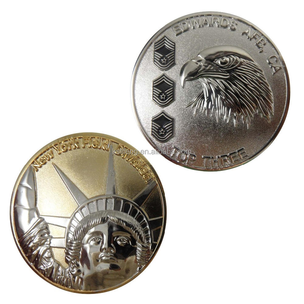 Custom Metal Coins Collectible Coins Gold Eagle Replica Coins
