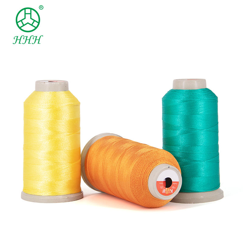 100% Viscose nylon thread 210d/3 hilo para bordar garment embroidery thread