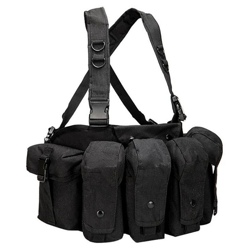 Free Sample Tactical Airsoft Ammo Chest Rig AK47 Vest Rifle Mag Ammo Carrier Combat Tactical Military Vest Tactical Gear