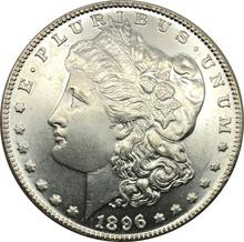 Untied States of America 1 One Dollar 1896 o Morgan Dollars Cupronickel Silver Plated Coins