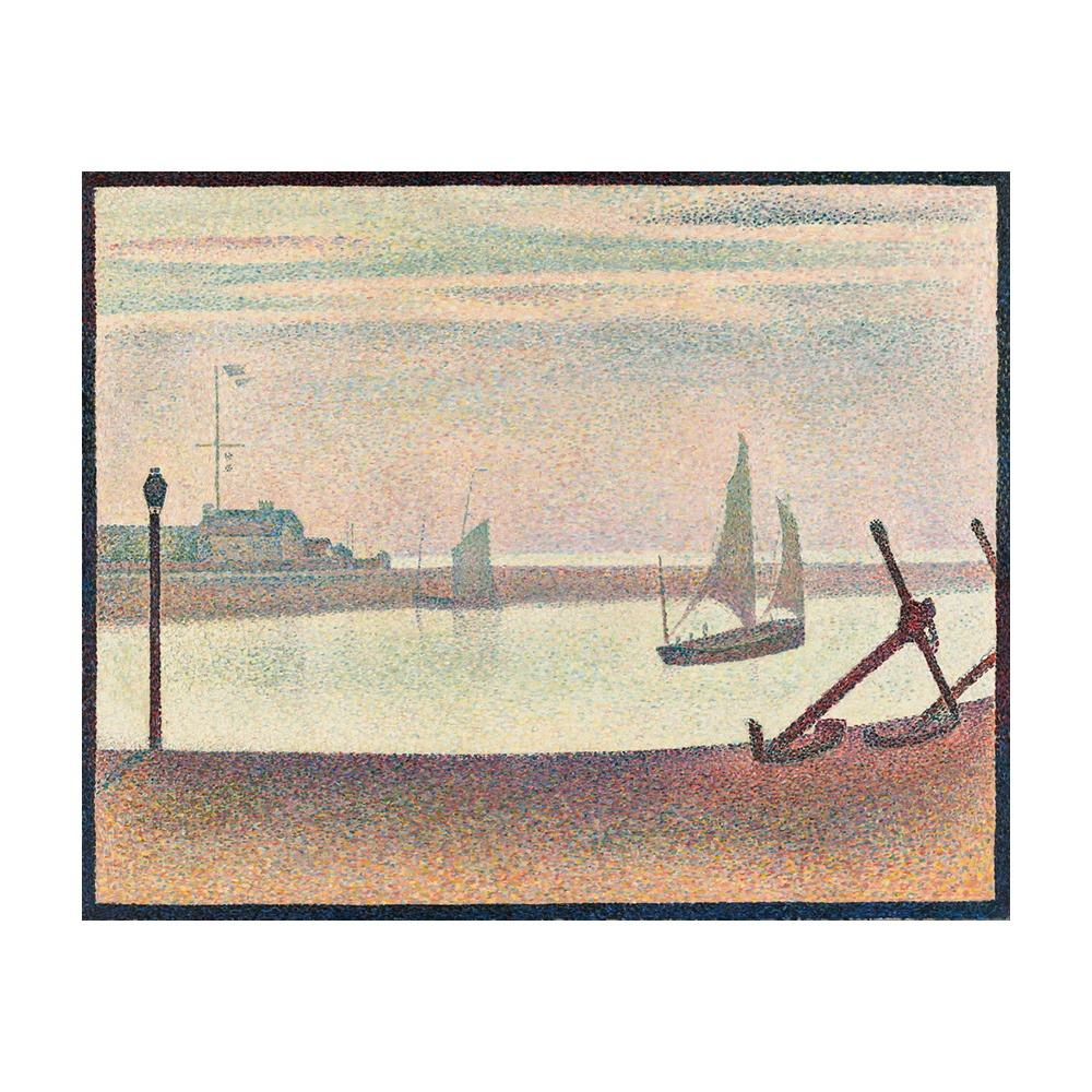 Georges Seurat Giclee Canvas Print Paintings Poster Reproduction Fine Art Wall Decor(The Channel at Gravelines, Evening)