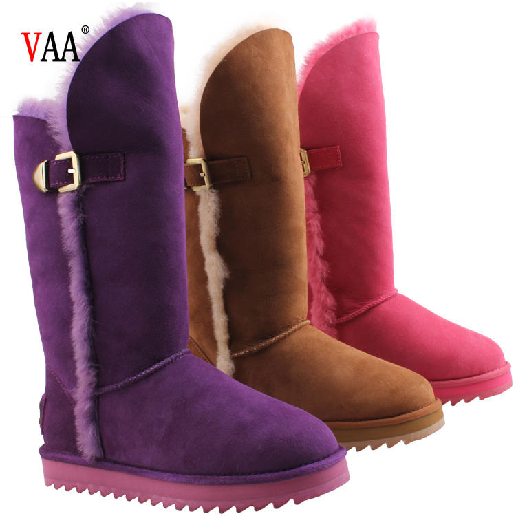 CF-078 Free Samples Hot Wholesale Genuine Leather SnowBoots 2018 Women Shoes