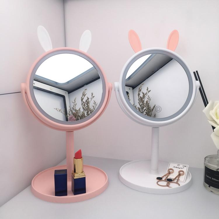 Wholesale Led make up mirror luxury beauty mirror with LED lights for girls