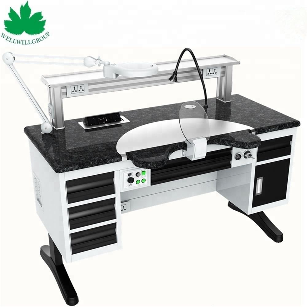 WWG-DS140 luxury single technician high quality dental lab work bench