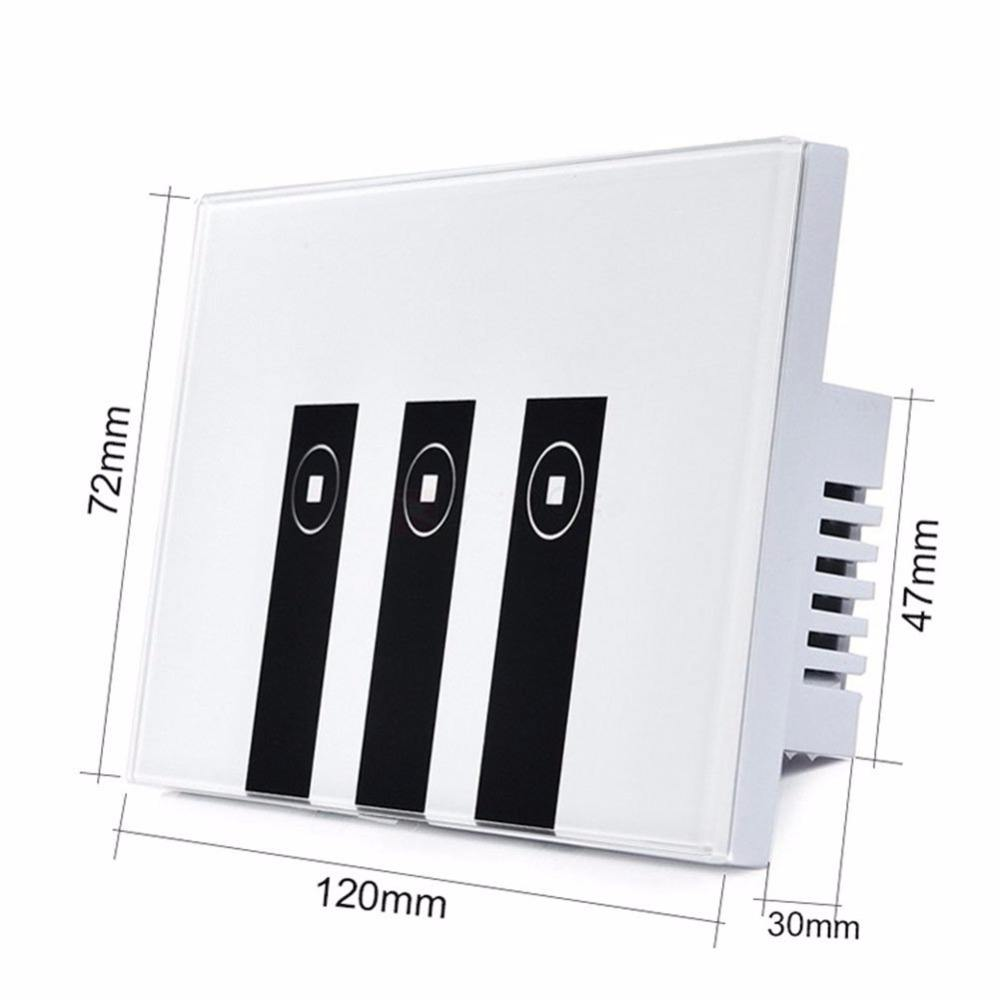 Smart Wi-Fi Switch Glass Panel 1gang 2gang 3gang US Touch Light wall Switch Work with Amazon Alexa smart home