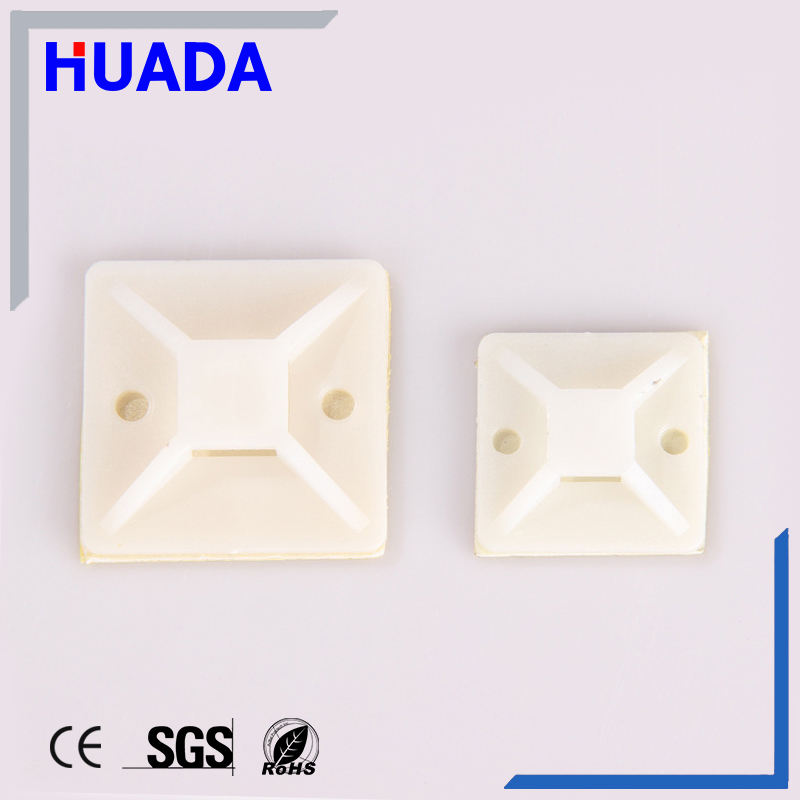 Ce Cable Tie Mounts Manufacturers Huada Nylon66 Self-adhesive Cable Tie Mounts