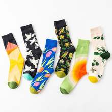 New design funny style Colorful view Crew Socks, Multi-Color unisex Tube Dress Socks custom pattern socks man