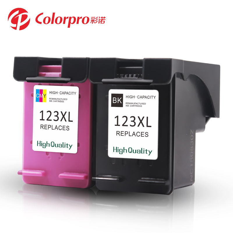 Colorpro 123XL remanufactured ink cartridge compatible for HP 1110/1111/1112/2130 printer cartridges 123xl 123