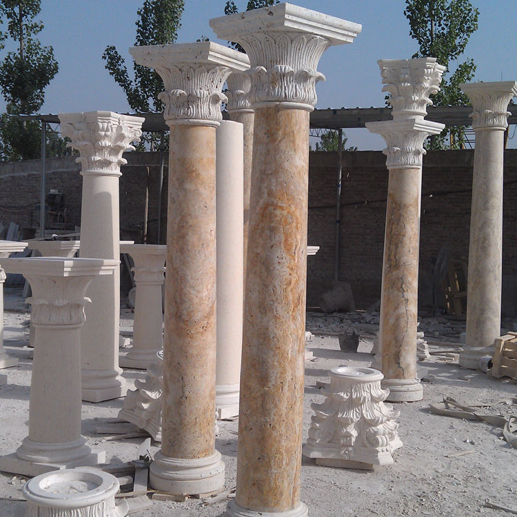 New design high quality home decor building support chinese stone column