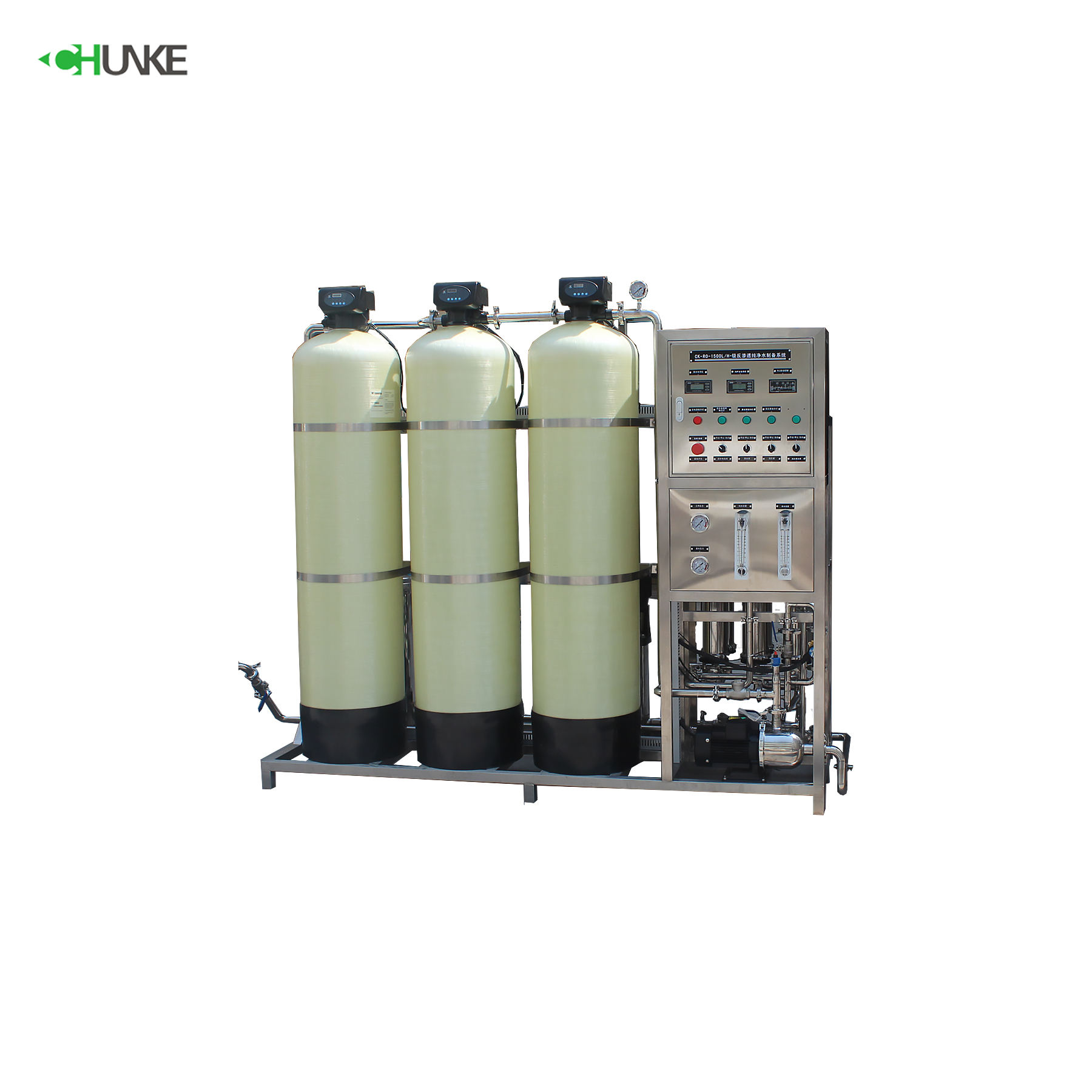 Reverse Osmosis System With Ozone Generator For Water Treatment 1000L/H Drinking