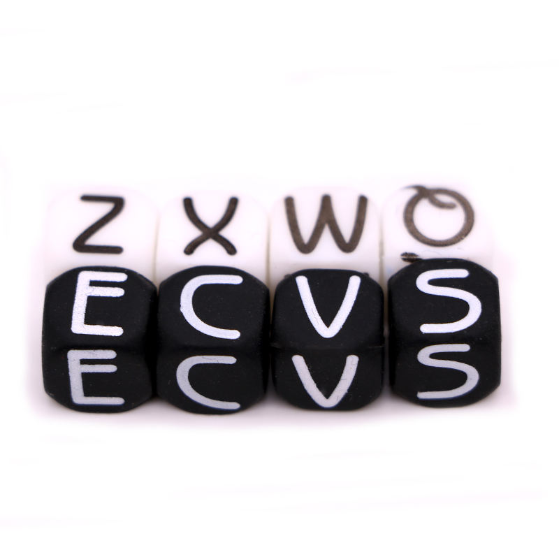 Wholesale Bulk Colourful Soft Silicone Letter Beads For Baby Toys