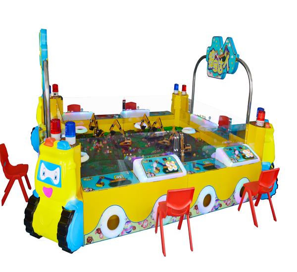 2020 Lowest price kiddie excavator game machine for outdoor place