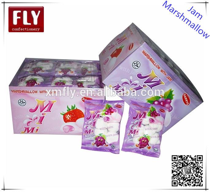 Individuel enveloppé <span class=keywords><strong>fraises</strong></span>. guimauve confiture de remplissage emballé dans la boîte de couleur