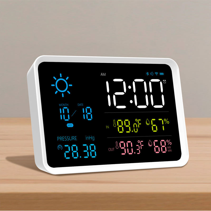 Automatic LED Wireless Thermometer Wireless Weather Station with Outdoor Sensor