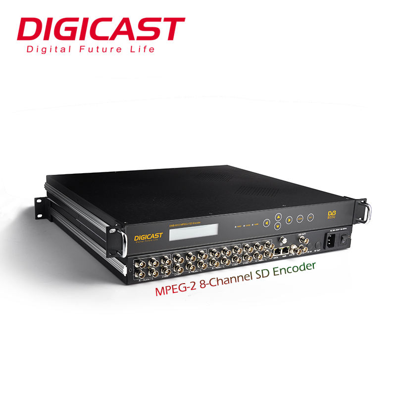 DVB Headend 4:2:0 ASI Mpeg2 SD 24 In 1 Oleh H 264 Video Encoder Peralatan Digital TV Headend Peralatan CATV encoder